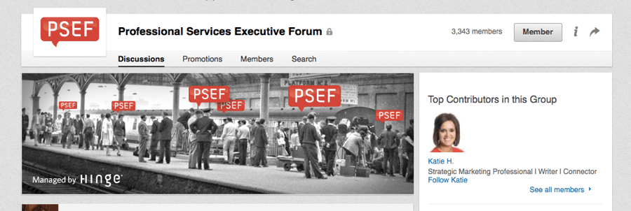 Professional Services Executive Forum LinkedIn Group